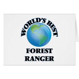 World's Best Forest Ranger Greeting Card
