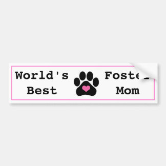 World's Best Foster Mom Bumper Sticker