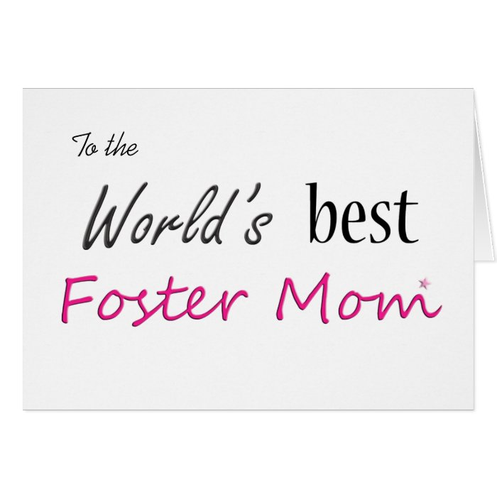World's Best Foster Mom Card