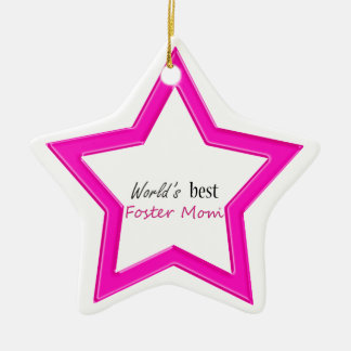 World's Best Foster Mom Star Shaped Ornament