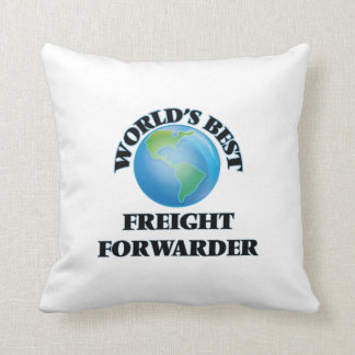 World's Best Freight Forwarder Throw Pillows