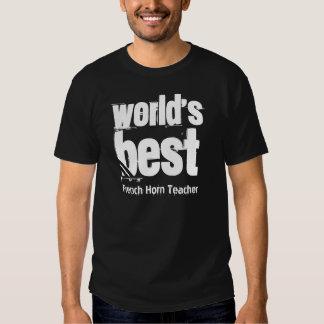World's Best French Horn Teacher Grunge Letters T-shirt