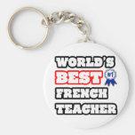 World's Best French Teacher Basic Round Button Keychain