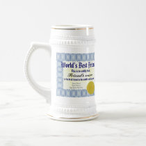 World's Best Friend Beer Stein Mug