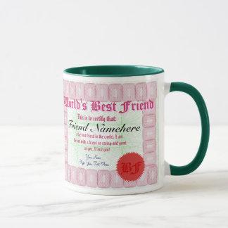 World's Best Friend Certificate Award Mug