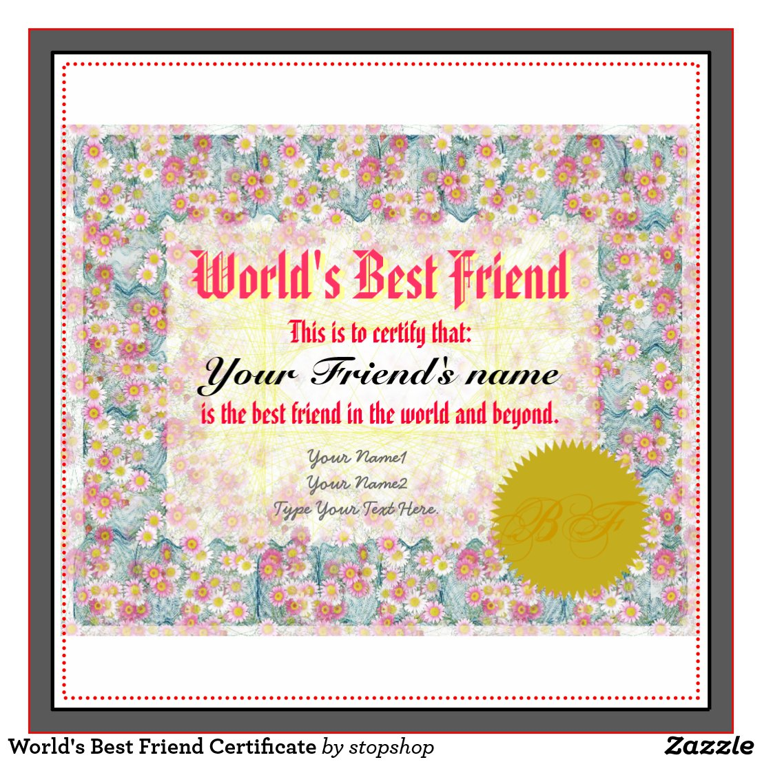 Images Best Friend Certificate Maker