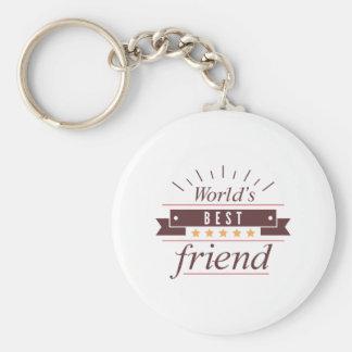 World's Best Friend Keychain