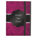 World's best friend pink damask iPad air cover