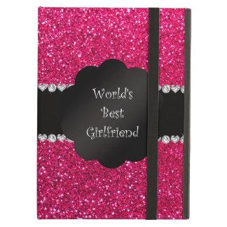World's best friend pink glitter iPad air cover