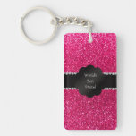 World's best friend pink glitter Single-Sided rectangular acrylic keychain