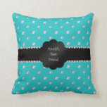 World's best friend turquoise diamonds throw pillow