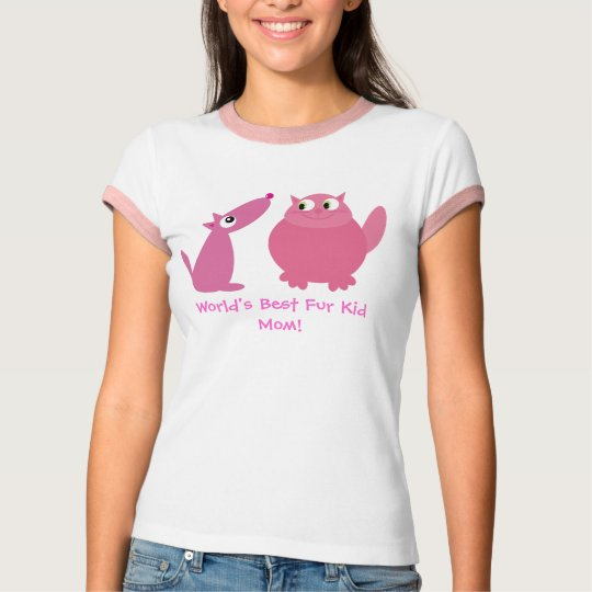 World's Best Fur Kid Mom! T-Shirt