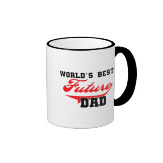 World's Best Future Dad T shirts and Gifts Ringer Mug