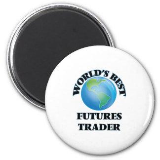 World's Best Futures Trader 2 Inch Round Magnet