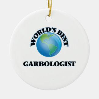 World's Best Garbologist Ceramic Ornament