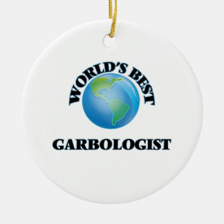 World's Best Garbologist Double-Sided Ceramic Round Christmas Ornament