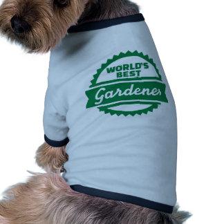 World's best Gardener Dog Clothes