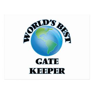 World's Best Gate Keeper Postcard