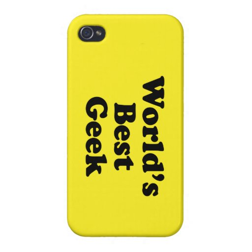 World's Best Geek iPhone 4 Cover