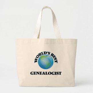 World's Best Genealogist Canvas Bags
