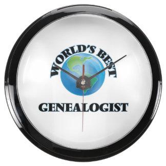 World's Best Genealogist Fish Tank Clock