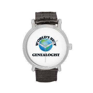World's Best Genealogist Wrist Watch
