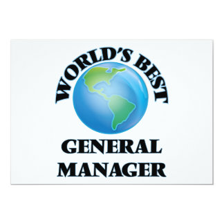 World's Best General Manager Cards