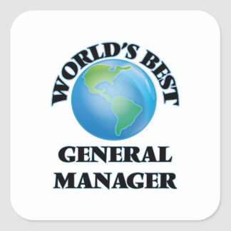 World's Best General Manager Square Sticker