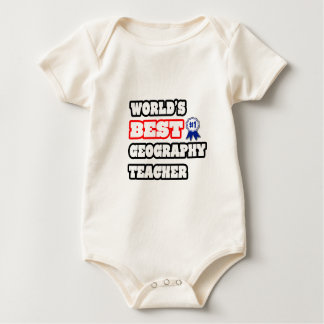 World's Best Geography Teacher Baby Bodysuit