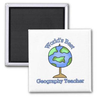 Worlds Best Geography Teacher Magnet