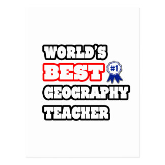 World's Best Geography Teacher Postcard