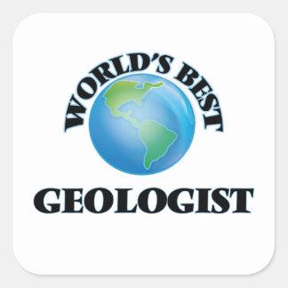 World's Best Geologist Square Sticker