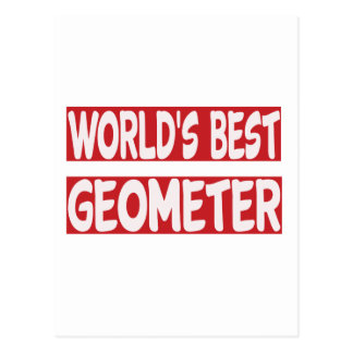 World's Best Geometer. Postcard