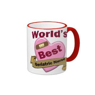 World's Best Geriatric Nurse Ringer Coffee Mug