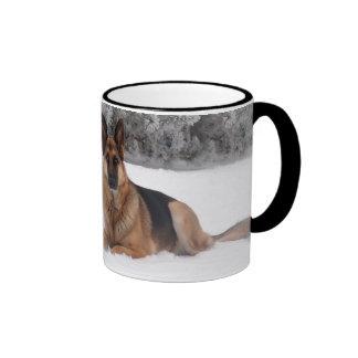 World's Best German Shepherd Dad Ringer Coffee Mug