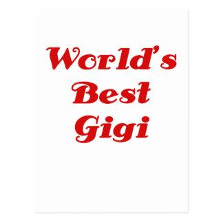 Worlds Best Gigi Postcards