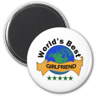 World's Best Girlfriend 2 Inch Round Magnet