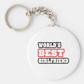 World's Best Girlfriend Basic Round Button Keychain