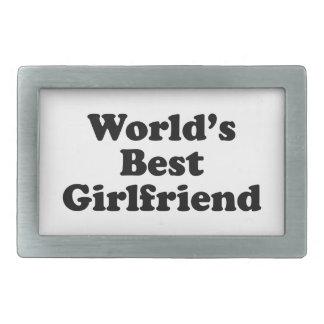 World's Best Girlfriend Rectangular Belt Buckles
