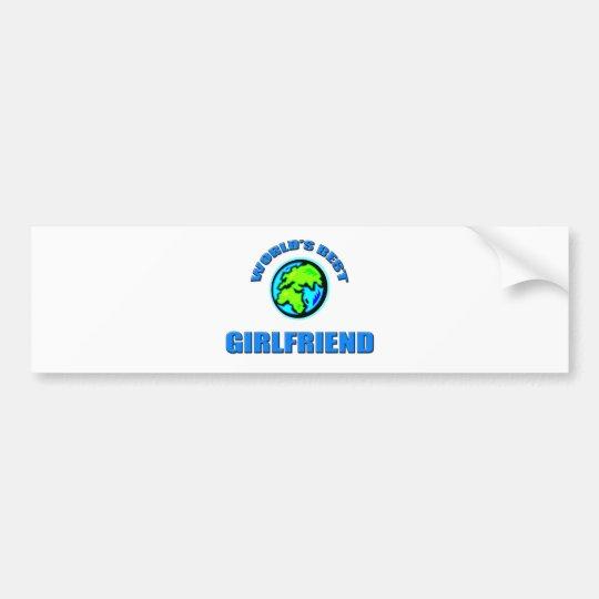 World's Best Girlfriend Bumper Sticker