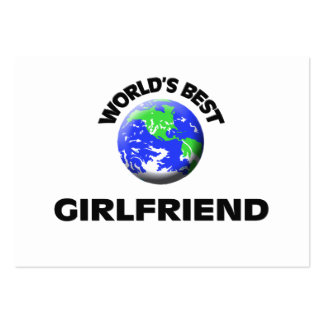 World's Best Girlfriend Large Business Cards (Pack Of 100)