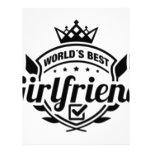 WORLDS BEST GIRLFRIEND LETTERHEAD