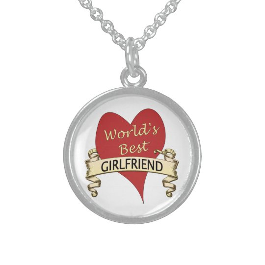 World's Best Girlfriend Sterling Silver Necklace