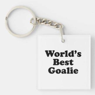 World's Best Goalie Single-Sided Square Acrylic Keychain