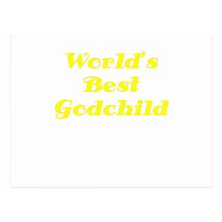 Worlds Best Godchild Postcard