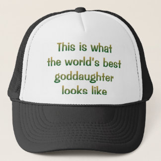 World's Best Goddaughter Looks Like Hat