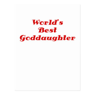 Worlds Best Goddaughter Postcards