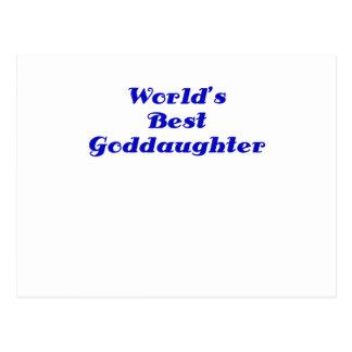 Worlds Best Goddaughter Postcard