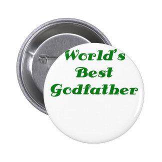 Worlds Best Godfather Pinback Buttons