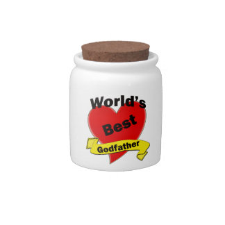 World's Best Godfather Candy Jars